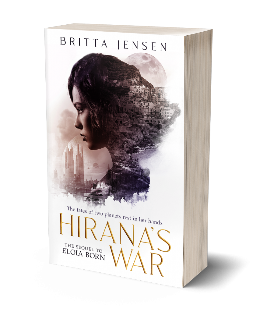 cover of paperback of Hirana's War by Britta Jensen